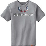 Mens Life Is Legendary Americana Tee
