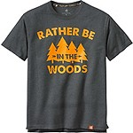 Rather Be In The Woods Short Sleeve Tee