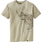 Mens Striking Bass Short Sleeve Tee