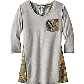 Ladies Escape the Day 3/4 Sleeve Tunic