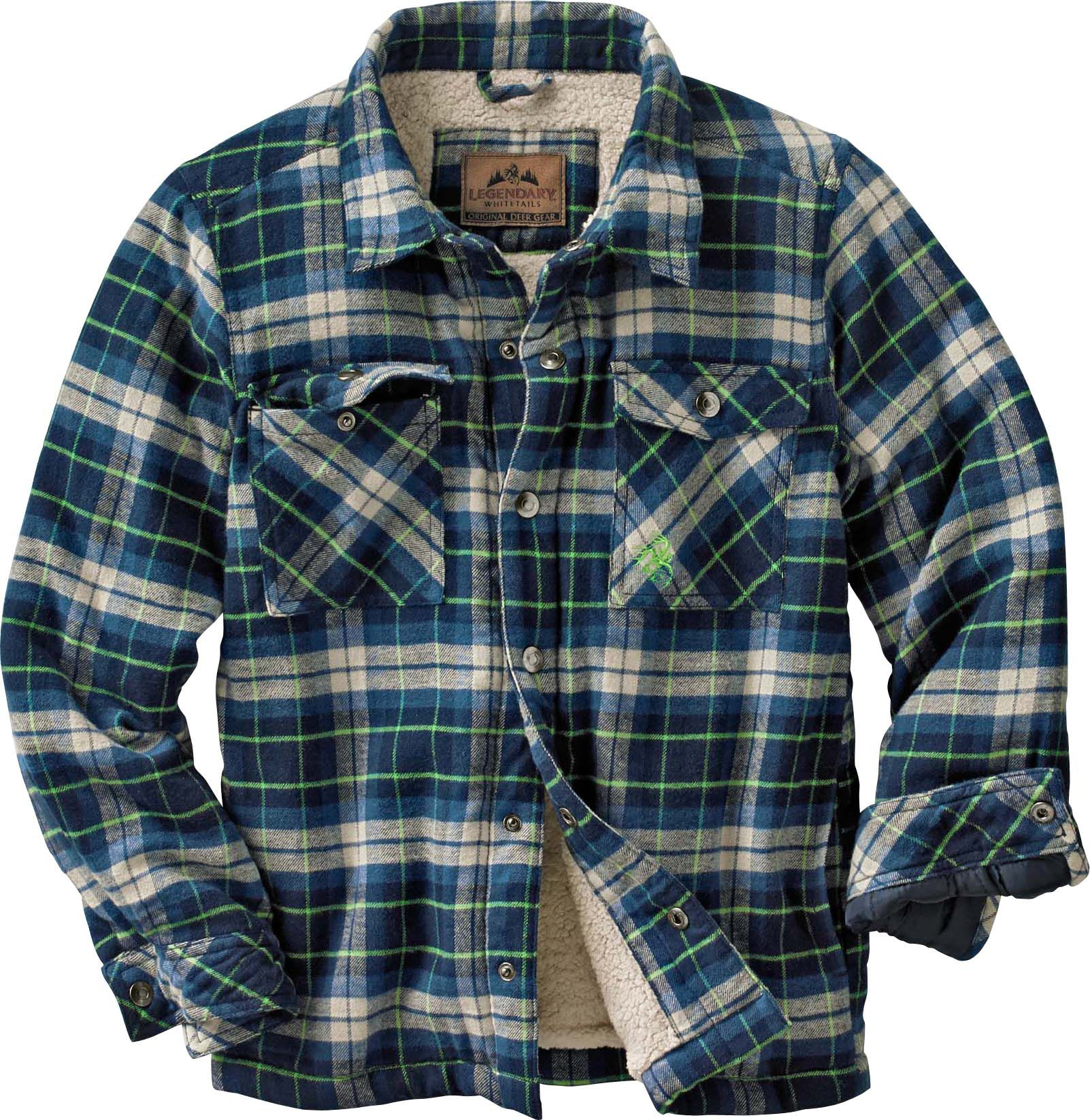 hooded jacket quilted plaid itm lined s insulated jackets dickies fleece shirt mens flannel quilt ebay