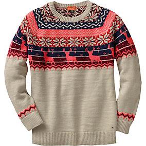 Ladies Sleigh Ride Fair Isle Sweater