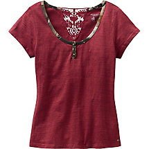 Ladies Rock Canyon Short Sleeve Henley at Legendary Whitetails