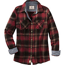 Ladies Cottage Escape Plaid Flannel Shirt at Legendary Whitetails