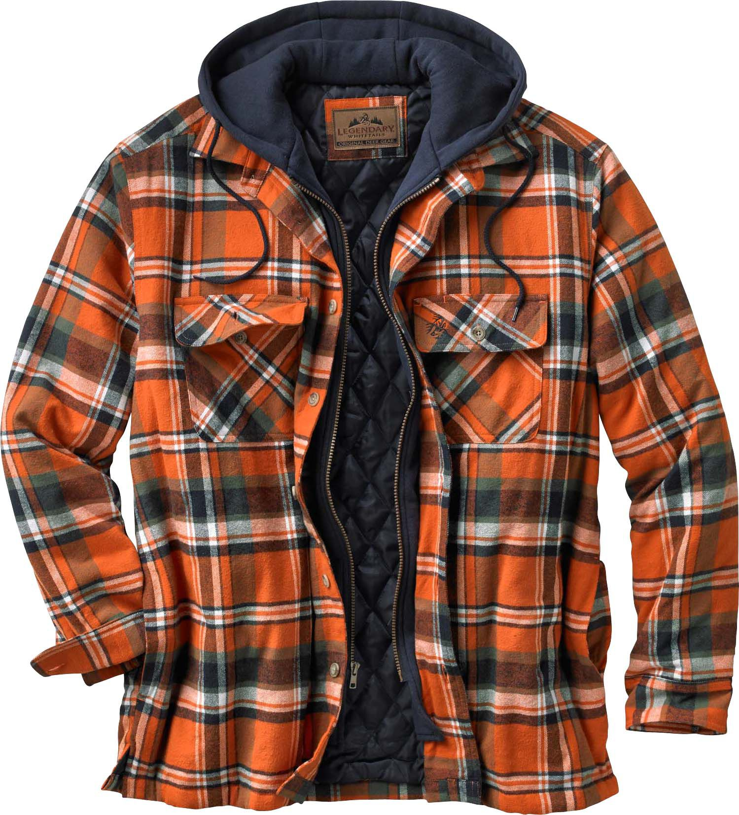 Maplewood Hooded Shirt Jacket | Legendary Whitetails : quilted flannel jacket with hood - Adamdwight.com