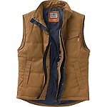 Mens Bison Canvas Vest