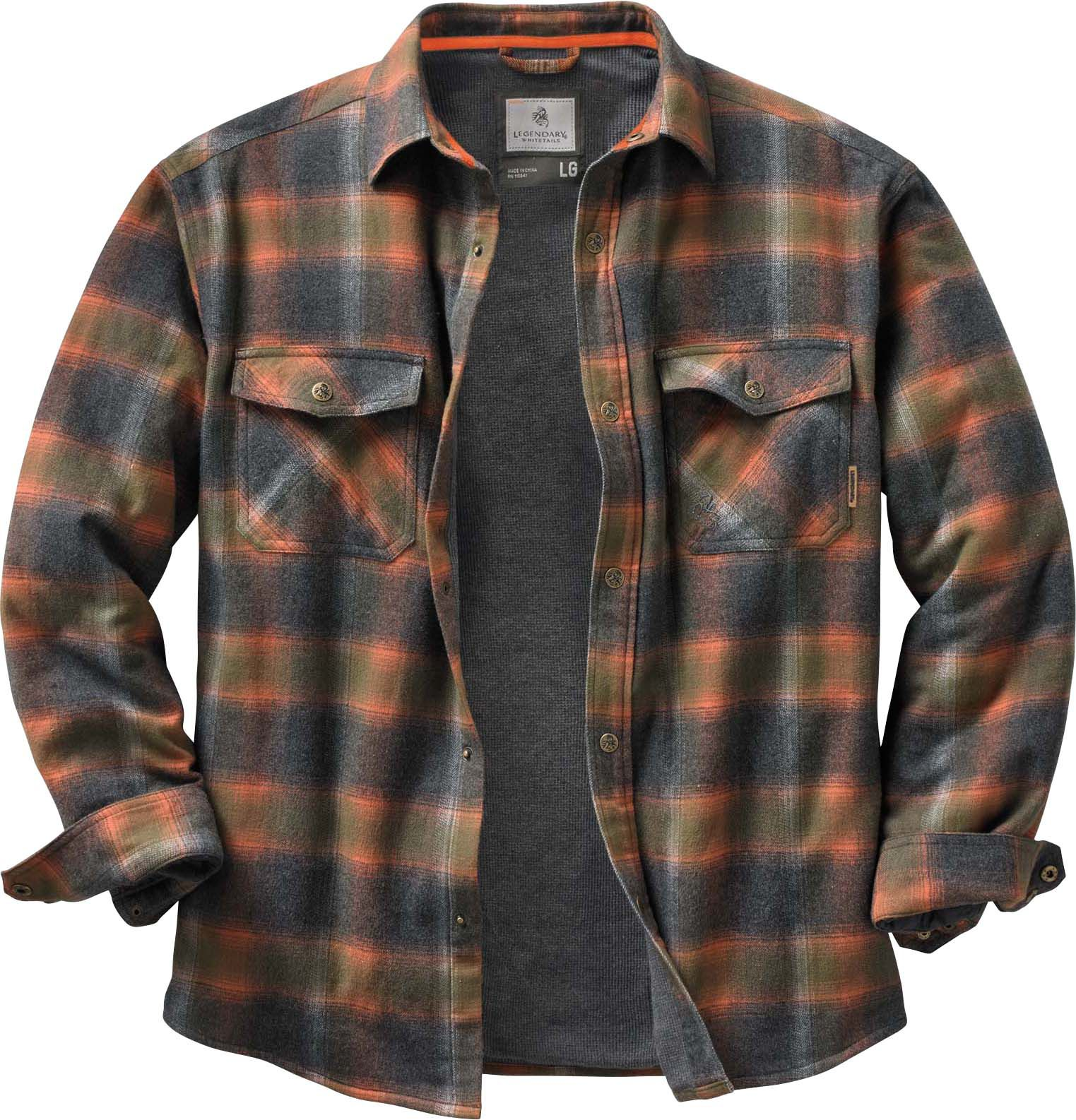 Mens plaid quilted jacket