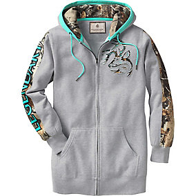 Ladies Full Zip Tunic Outfitter Hoodie