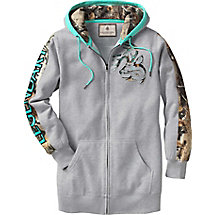 Ladies Full Zip Big Game Outfitter Tunic Hoodie at Legendary Whitetails
