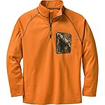 Mens Marksman ¼ Zip Grid Fleece