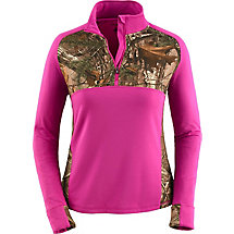 Ladies Broadhead Realtree Camo Performance ¼ Zip at Legendary Whitetails