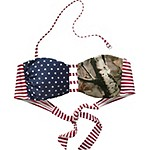 Ladies True To Roots Bandeau Bikini Top