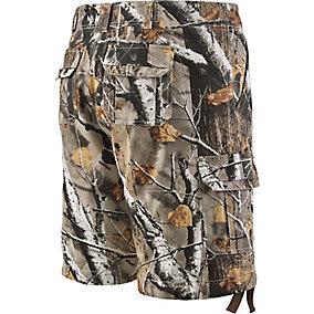 Mens Base Camp Camo Twill Cargo Shorts