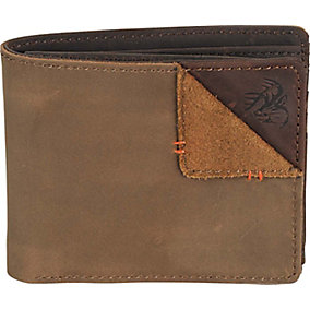 Mens Compass Leather Wallet