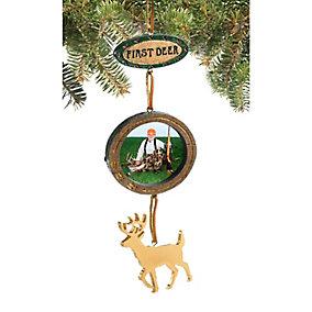 First Deer Photo Ornament