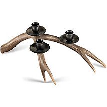 Deer Antler Triple Candle Holder at Legendary Whitetails