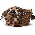 Bowl Basket W/ Antler Handles