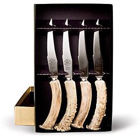 4 Steak Knives In Gold Foil Box