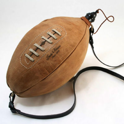 Handmade Football Wineskin - Easy-Care Latex Liner