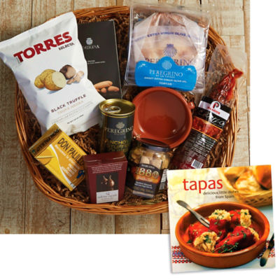 Tapas for Two Basket plus 'Tapas: Delicious Little Dishes' Book