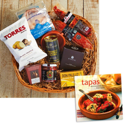 Holiday Entertaining Basket plus 'Tapas: Delicious Little Dishes' Book
