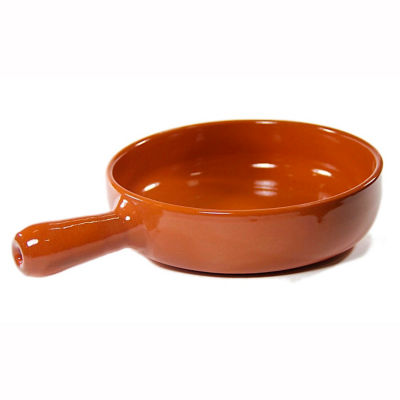 Handled Terra Cotta Cazuela - 9 Inches
