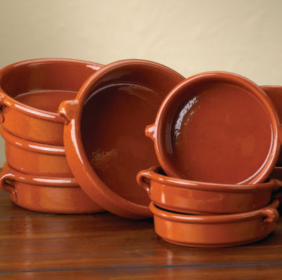 Terra Cotta Cazuelas - 4.5 Inches (4 Dishes)