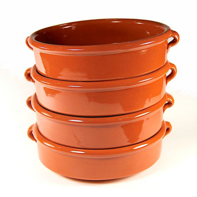 Terra Cotta Cazuelas - 8 Inches (4 Dishes)