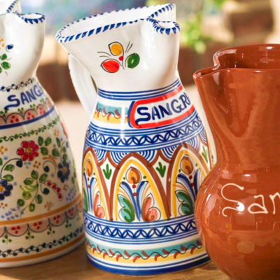 Hand-Painted Ceramic Sangría Pitcher