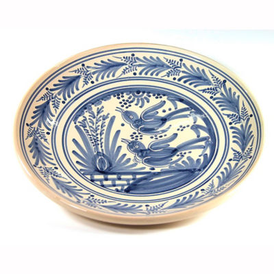 Hand-Painted Golondrina Plate, Swallow Design - 11 Inches