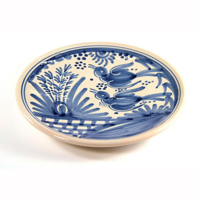 Hand-Painted Golondrina Salad/Tapas Plate, Swallow Design - 8 Inches