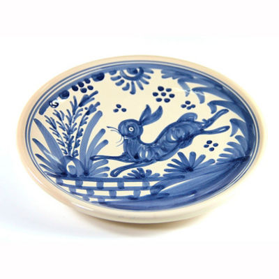 Hand-Painted Golondrina Salad/Tapas Plate, Rabbit Design - 8 Inches