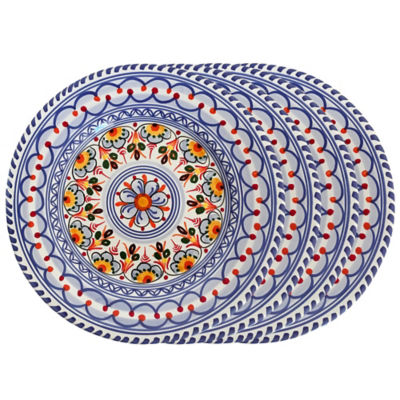 Set of 4 Salad / Lunch Plates - Each 9.5 Inch