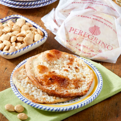 2 Packages of Toasted Almond Tortas de Aceite Crisps by Peregrino