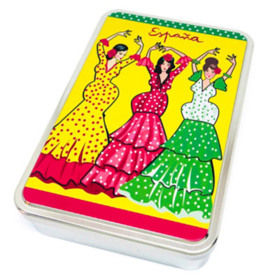 Flamenco Gift Tin of Almond Cookies by Birba
