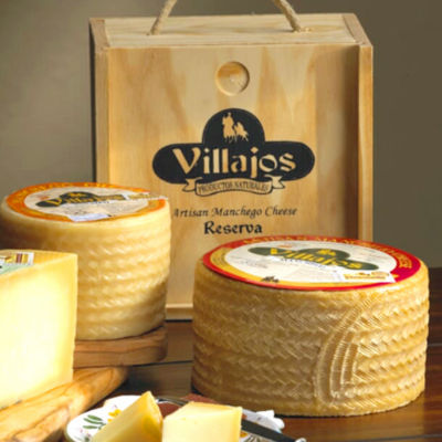 Villajos 'Reserva' Manchego Cheese in Wooden Box - 4 Pounds