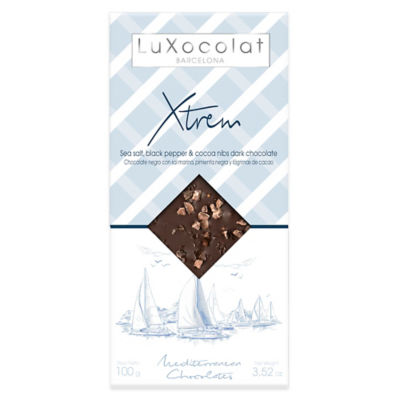Sea Salt and Black Pepper Chocolate Bar by Luxocolat