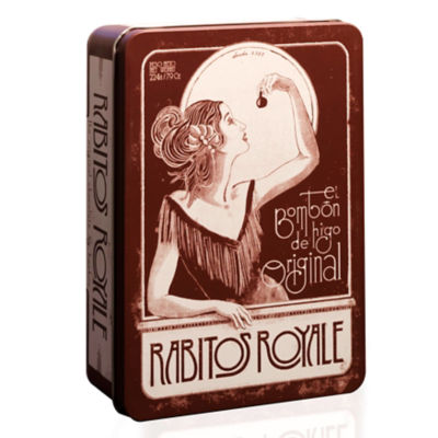 Vintage Gift Tin of Rabitos Royale Bonbons (14 Pieces)