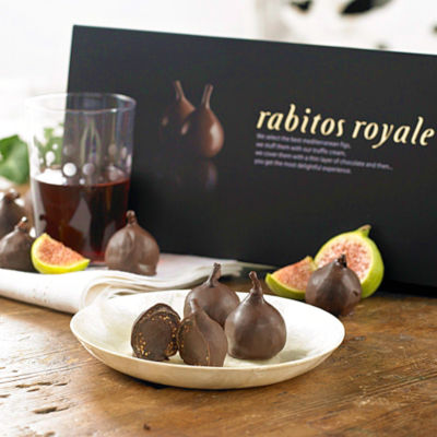 Rabitos Royale Gourmet Dark Chocolate-Stuffed Fig Bonbons (8 Pieces)