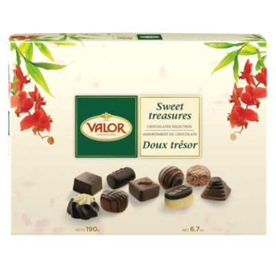 Sweet Treasures Chocolates Selection Gift Box by Valor