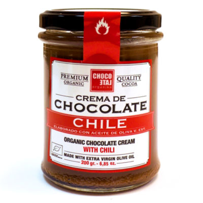 2 Jars of Chocolate Hazelnut Cream with Chili by Orgániko