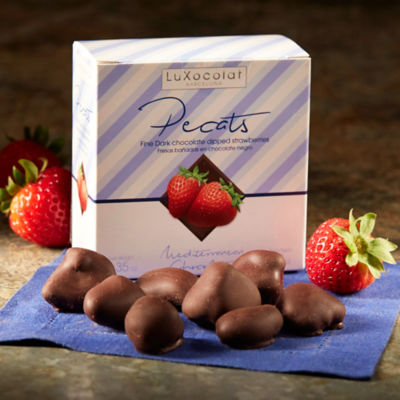 Whole Strawberries Dipped in Dark Chocolate
