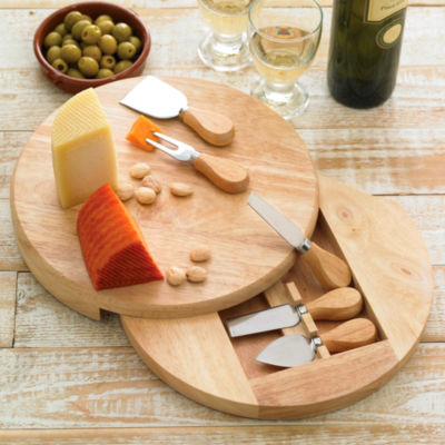 Gourmet Cheese Cutting Board with Tasting Tools