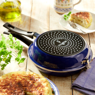 2-Piece Blue Tortilla Espanola Pan, Non-stick