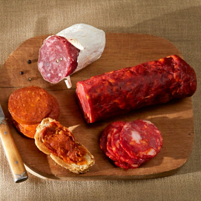 Slicing Sampler of Spanish Sausages