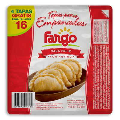 2 Packages of Empanada Shells for Frying