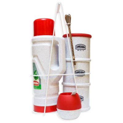 Portable Yerba Mate Serving Set - Red