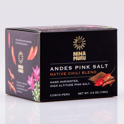 Andes Pink Salt with Native Chilies by Nina Muru