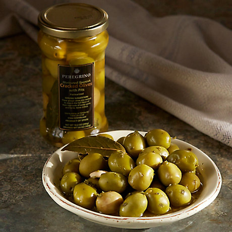 Cracked Olives with Garlic & Herbs by Peregrino