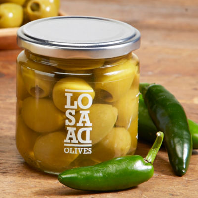 Gordal Olives Stuffed with Jalapeños